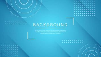 Abstract shape blue background with white elements vector