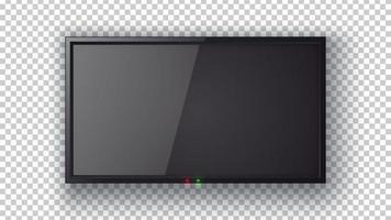 pantalla de tv plana realista vector