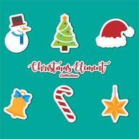 colección de iconos de elementos navideños