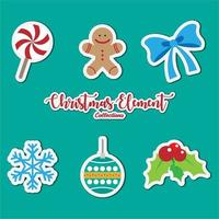 Christmas elements icon collection