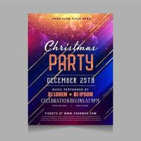 Christmas party invitation with glowing sparkling design vector