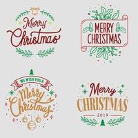 Christmas greeting badge set