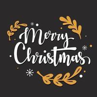 Merry Christmas typography design