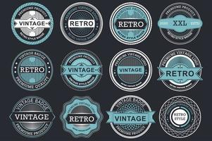 Collection of retro sale labels vector