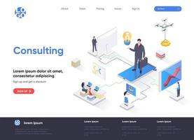 Consulting isometric landing page