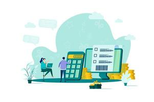 Accountant concept in flat style vector