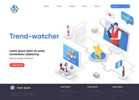 Trend-watcher isometric landing page