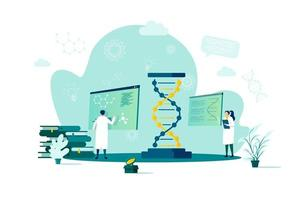 Biotechnology concept in flat style vector