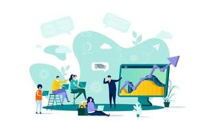 Business training concept in flat style vector