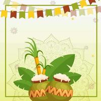 Green and Yellow Pongal Background