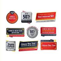 Chinese New Year Sale Labels