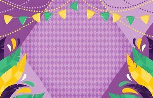 Mardi Gras Festivity Background vector