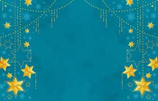 Golden Hanging Stars Background