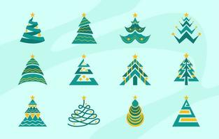 Simple Tree for Christmas Day vector