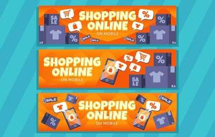 Shopping Online Promotion Discount vector
