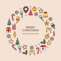 Variety of Christmas Icons vector