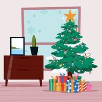 Decorative Christmas Tree vector