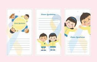 Down Syndrome Note and Banner Template