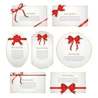 Red Ribbon Cards Design