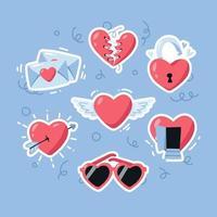 Heart Sticker Pack vector