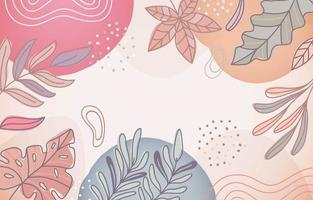 Hand drawn Foliage Background vector