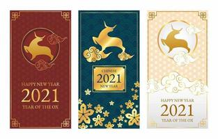 Banners of Chinese New Year 2021