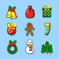 Artsy Christmas Things vector