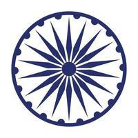 ashoka, chakra, símbolo, icono, caricatura