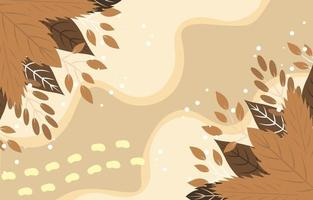 Brown Fall Flower Background vector