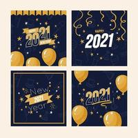 2021 Navy New Year Greeting Cards