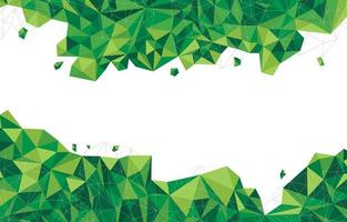Green Low Poly Abstract Background vector
