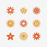 Creative Abstract Orange Star Icon Concept vector
