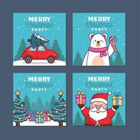Invite Your Loved Ones to Celebrate Christmas vector
