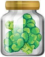 Broccoli in the glass jar vector
