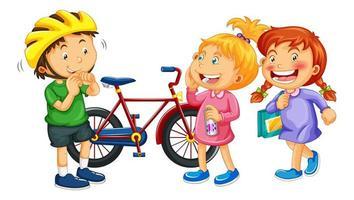 Isolated children cartoon character vector