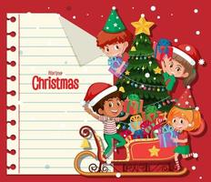 Blank Christmas note template vector