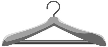 Percha de tela aislado sobre fondo blanco. vector