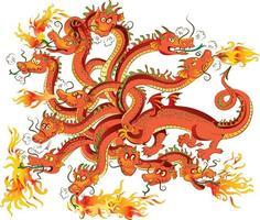 Dragon with twelve heads