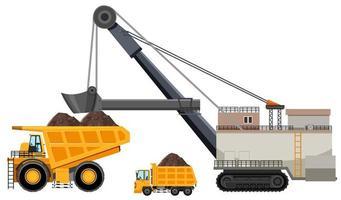 Articulated dump truck mining vector