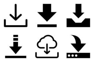 Download icon set of six units vector
