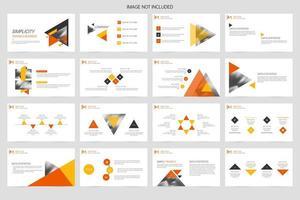 Minimalist business layout template design vector