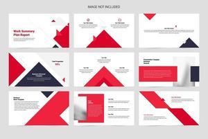 Minimalist corporate presentation template vector