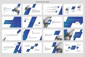 Template of simple publicity presentation slide vector