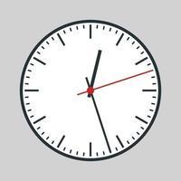 reloj analógico redondo vector