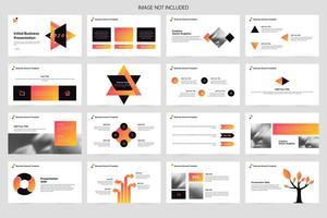 Business presentation design infographic