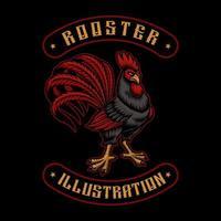 Rooster emblem design vector