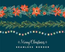 Christmas Garland and light bulbs vector