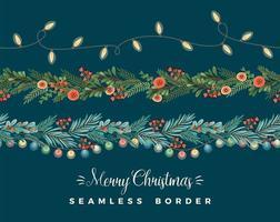 Merry Christmas Garlands vector