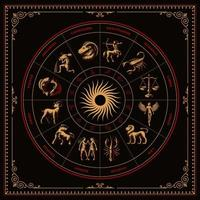 A bundle of zodiac signs vector