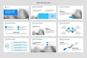 Minimalistic company business presentation slides vector